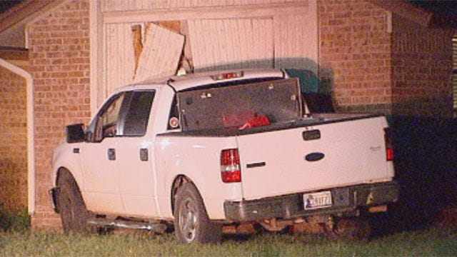 Driver Arrested After Truck Slams Into Northwest OKC Home