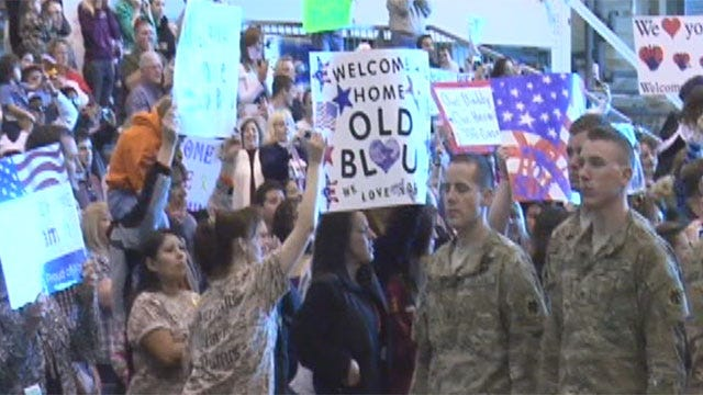 Hugs, Tears, Even A Marriage Proposal At Welcome Home Ceremony For Oklahoma National Guard