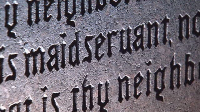Misspellings Mark Ten Commandments Monument At Oklahoma State Capitol