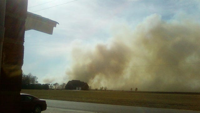 Crews Extinguish Large Grass Fire In Blackwell