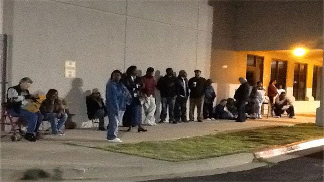 People Line Up For Early Voting In Oklahoma