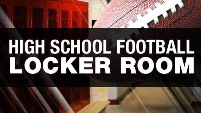 High School Football Locker Room Week 8