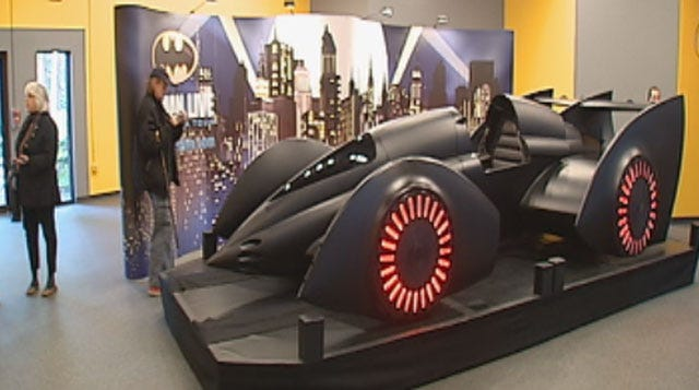 Batmobile From Batman Live Show Rolls Into Science Museum Oklahoma