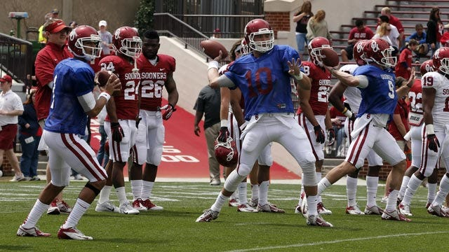 OU Quarterback Competition Is Bell's To Lose, But Still Open