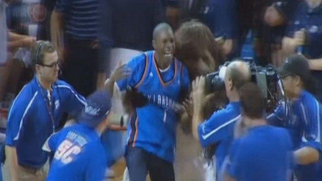 OKC Man Makes Half-Court Shot During Thunder Game