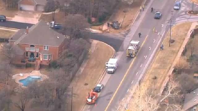 Emergency Crews Respond To Officer-Involved Crash In Edmond