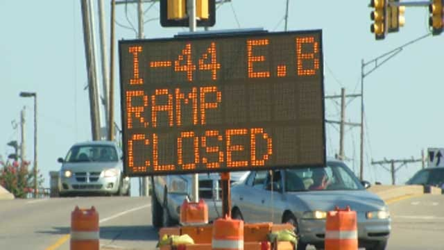 ODOT: Close Calls Prompt Busy I-44 Ramp Closure