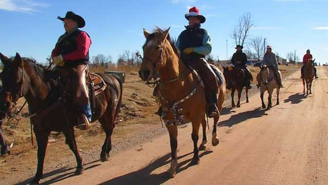 Cowboy Elves Deliver Early Christmas Presents To OK Tornado Victims
