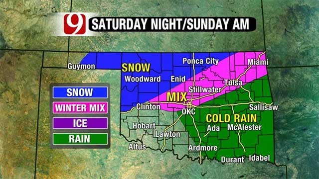 Great Weather To Give Way To Winter Storm Across Oklahoma