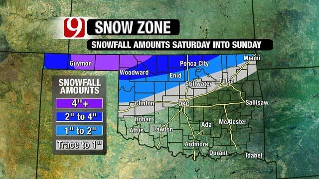 Arctic Front To Move Through Oklahoma Friday
