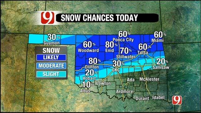Weather Update: More Snow To Fall In Parts Of Oklahoma