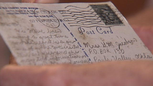Postcard Finds Oklahoma Mom, 46 Years After Being Sent