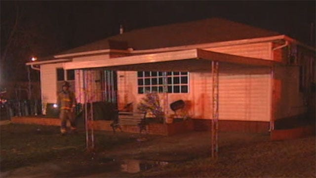 Water Main Breaks After Crews Battle House Fire In South OKC