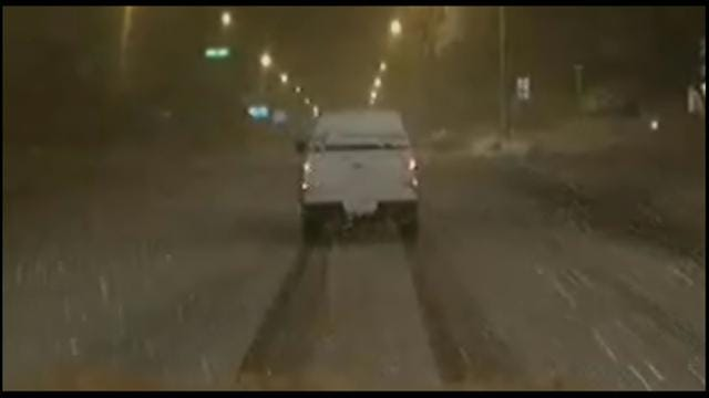 Roads Closed As Blizzard Conditions Move Into Western Oklahoma
