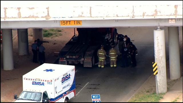 Crews Inspect Old I-40 Bridge In OKC After Accident On Penn