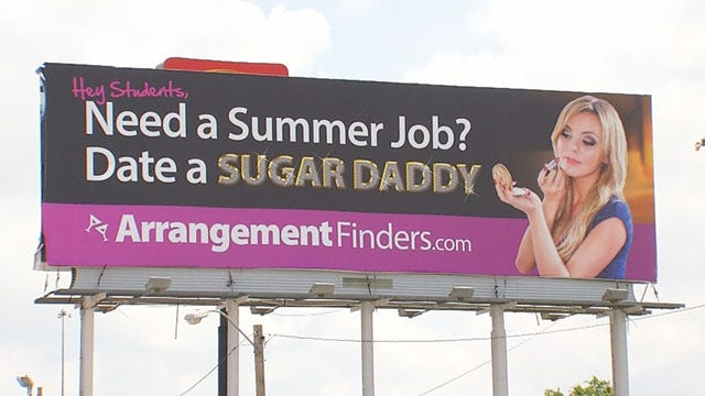 'Sugar Daddy' Billboard Taken Down In OKC