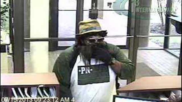 Fake-Beard Wearing Robber May Have Hit Same OKC Bank Twice