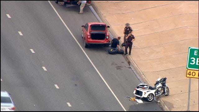 Multiple Vehicles Collide Near Shields Exit On EB I-240