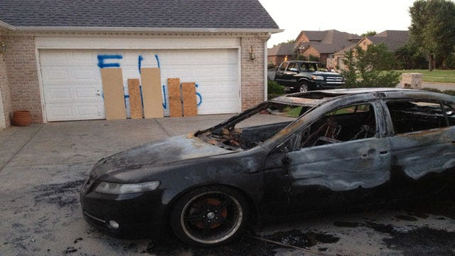 Possible Hate Crime Leaves Racial Slur, Scorched Cars At OKC Home
