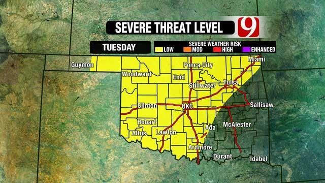 Another Stormy Pattern Setting Up Across Oklahoma