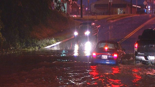 Heavy Rain Causes Flooding In Oklahoma City Metro Roads
