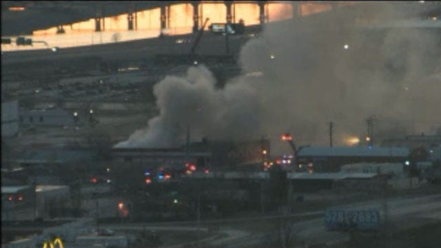 Crews Douse Fully-Involved Structure Fire At SW OKC Business