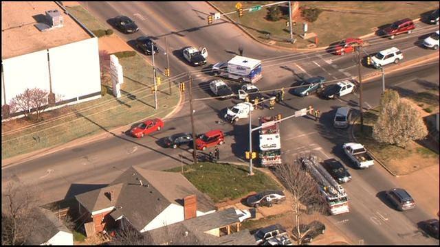 Police Chase Ends In Arrest, Crash In Northwest OKC