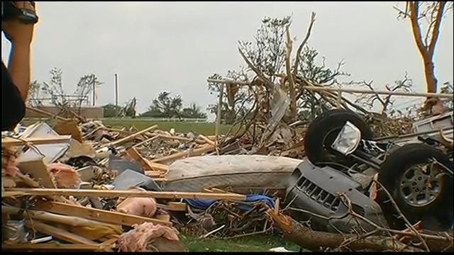News 9's Rusty Surette Tours Granbury, Texas Tornado Damage