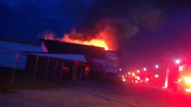 Large Fire Damages Downtown Tuttle Building