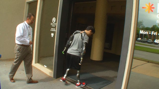 Quadruple Amputee Walking Again After Visit To OKC Hospital