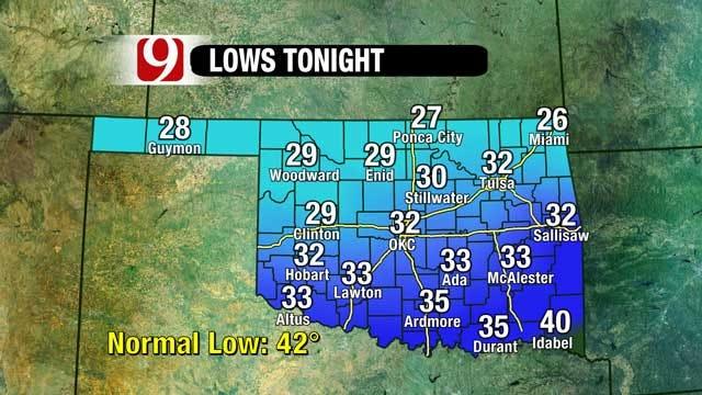 Arctic Blast To Hit Oklahoma Monday Night