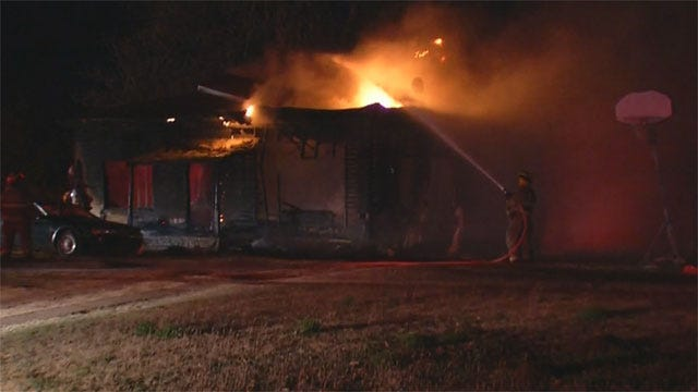 Girl Suffers Serious Burns In Purcell Fire