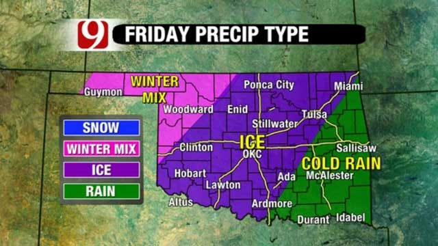 Wintry Mix Could Affect Commutes, Disrupt Power