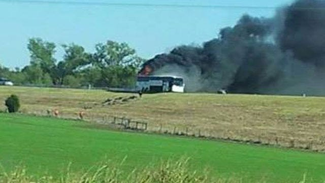 Norman High School Band Members OK After Bus Fire