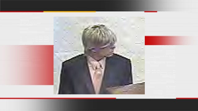 Man In Blond Wig Robs OKC Bank