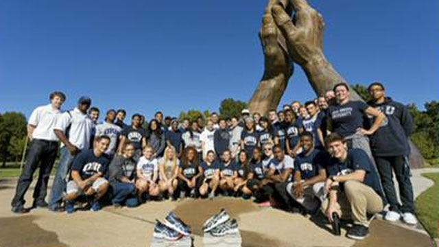 ORU Track, Field Teams Donate Running Shoes To Tobias And Titus