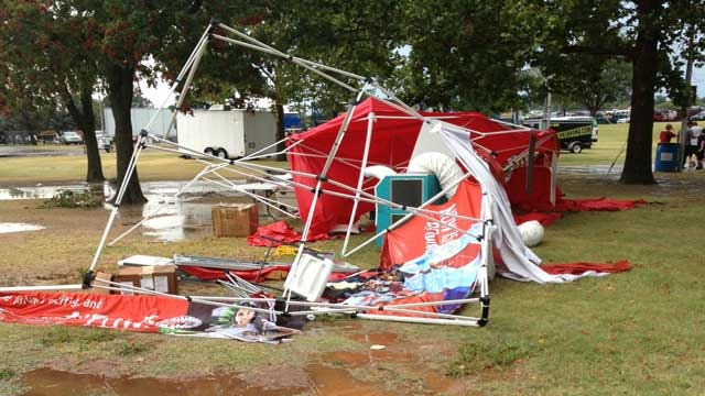 Strong Winds Cause Injuries, Damage At Oklahoma State Fair