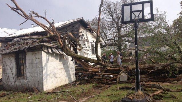 Powerful Winds Topple Tree, Spark House Fire In Choctaw