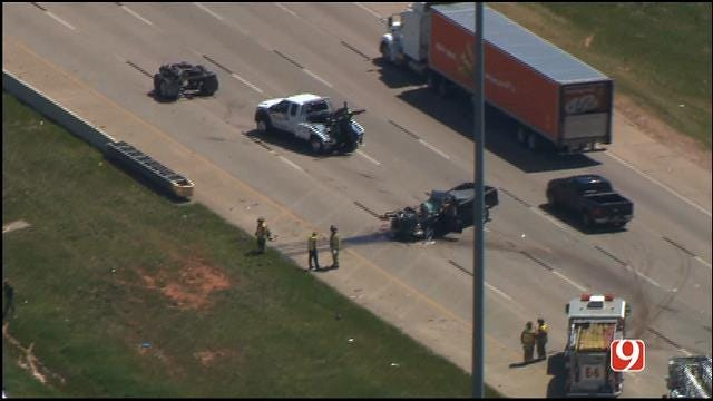 Crews Respond To Accident On I-40 Near Eastern In OKC
