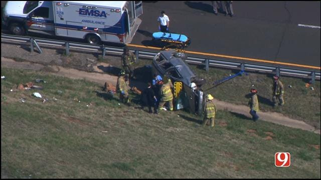 Parts Of I-240 Back Open In SE OKC Following Rollover Crash