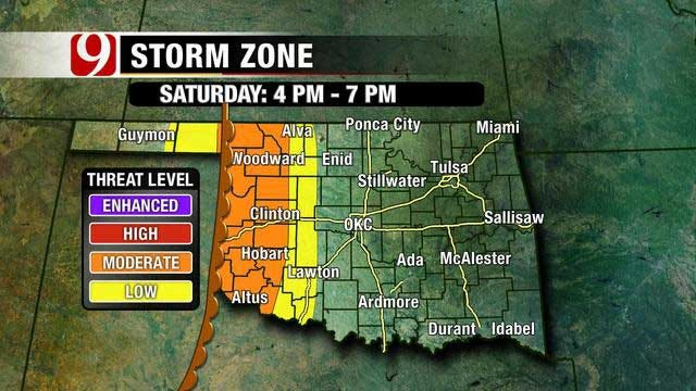 Strong Storms Expected In Oklahoma Over The Weekend