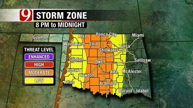 Severe Weather Moves Across Oklahoma Saturday Evening, Overnight