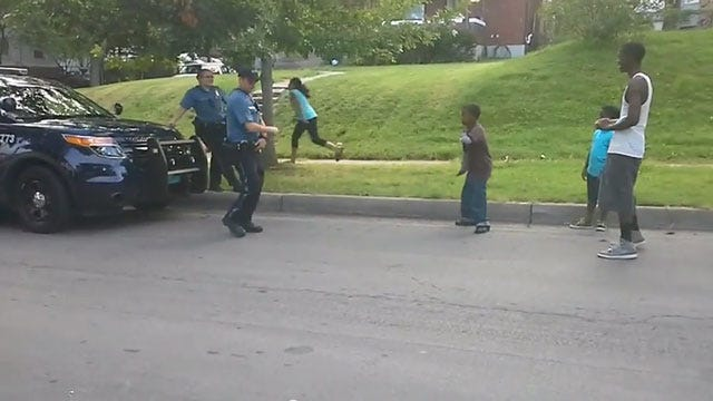 Kansas City Officer Challenges Children To Dance-Off