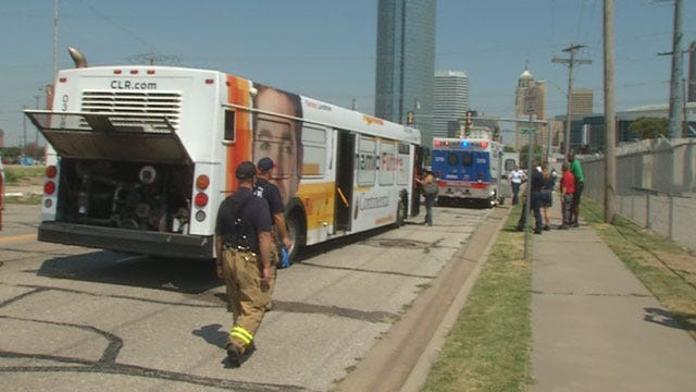 Accident Involving City Bus Shuts Down Intersection At SW 5th, Robinson