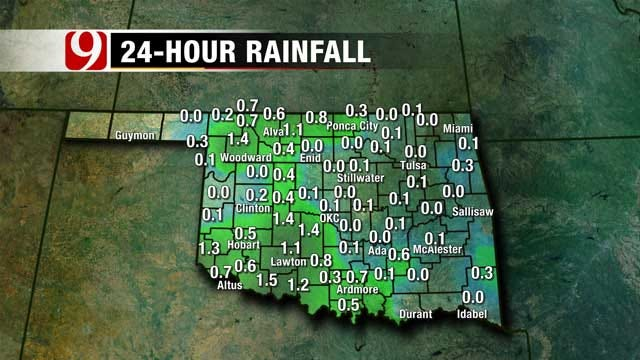 Chance For Scattered Showers Friday Afternoon In OK