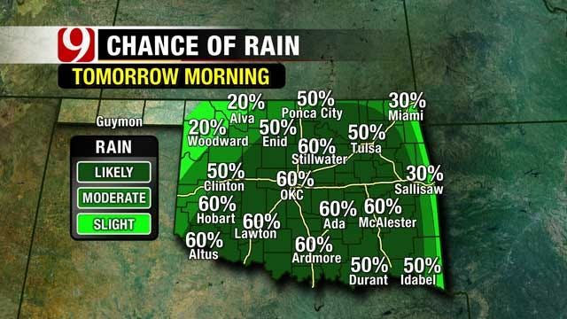 Cold, Rainy Weather Expected To Close Out The Work Week In Oklahoma