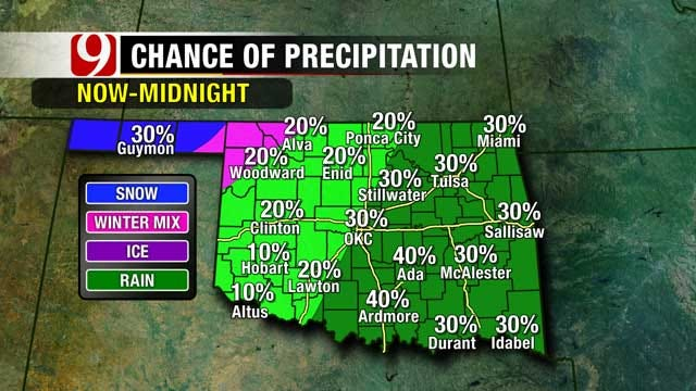 Cold Front May Bring Light Snow Across Oklahoma