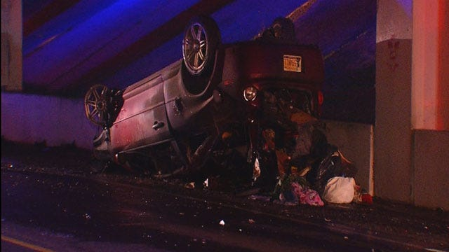 Emergency Crews Respond To Two Wrecks In Oklahoma City