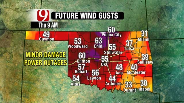 High Winds Mean Potential For Damage In Oklahoma