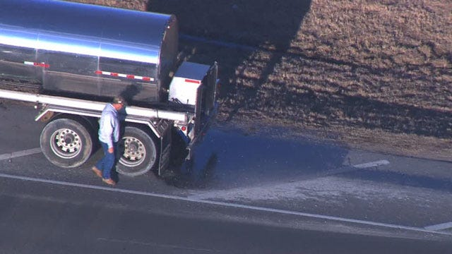 OKC Man Says Sugar From Tanker Spill Is Stuck All Over His Vehicle